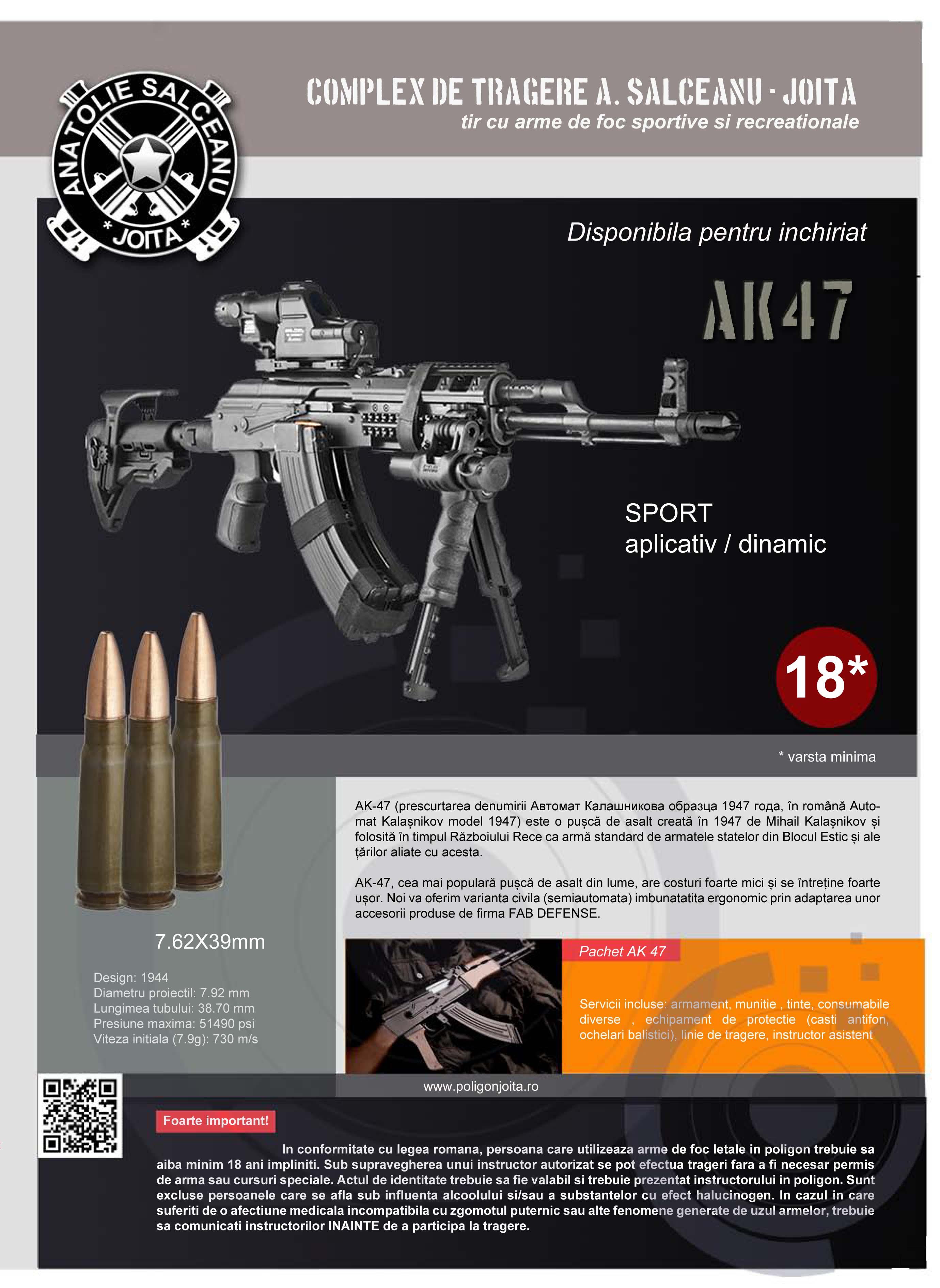 Plansa AK 47