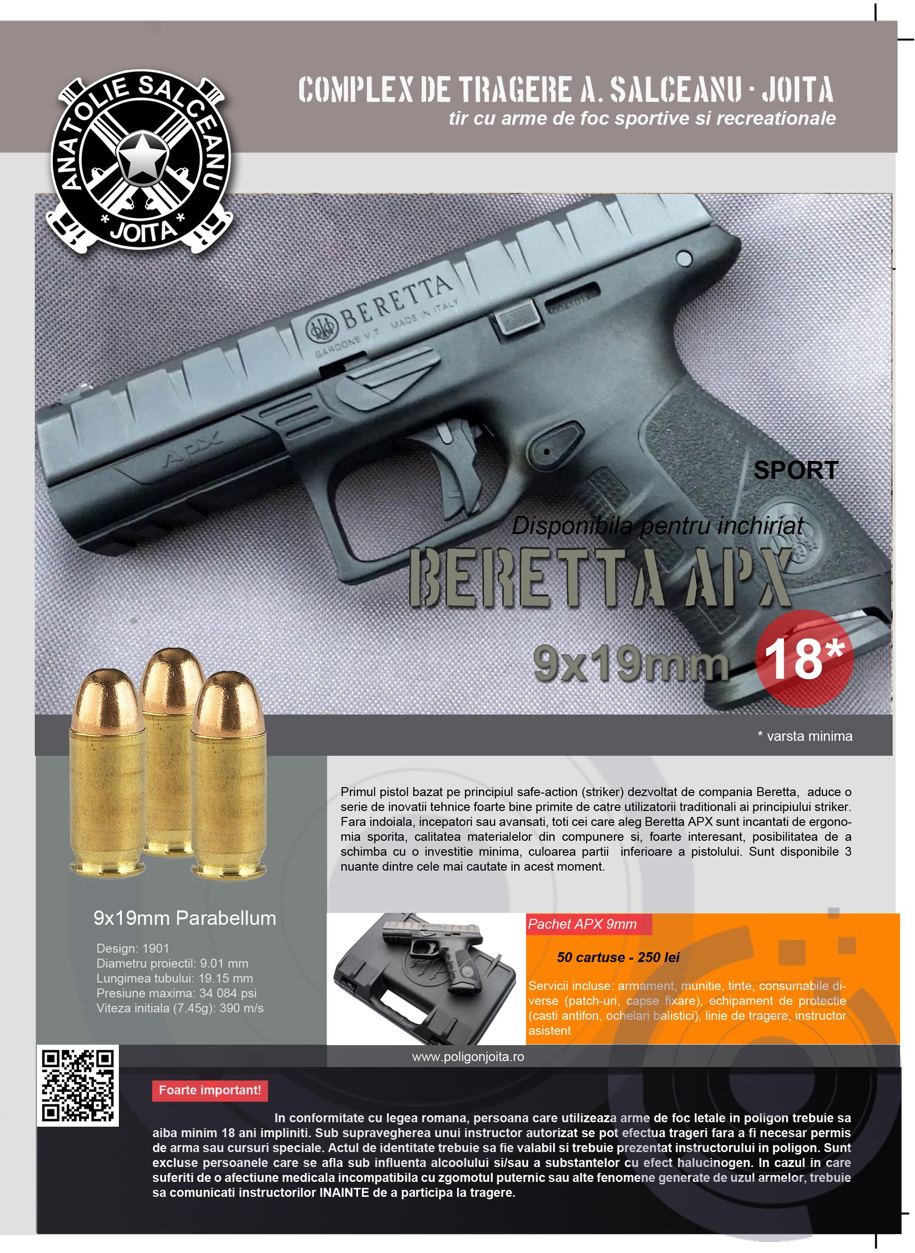 Plansa Beretta APX