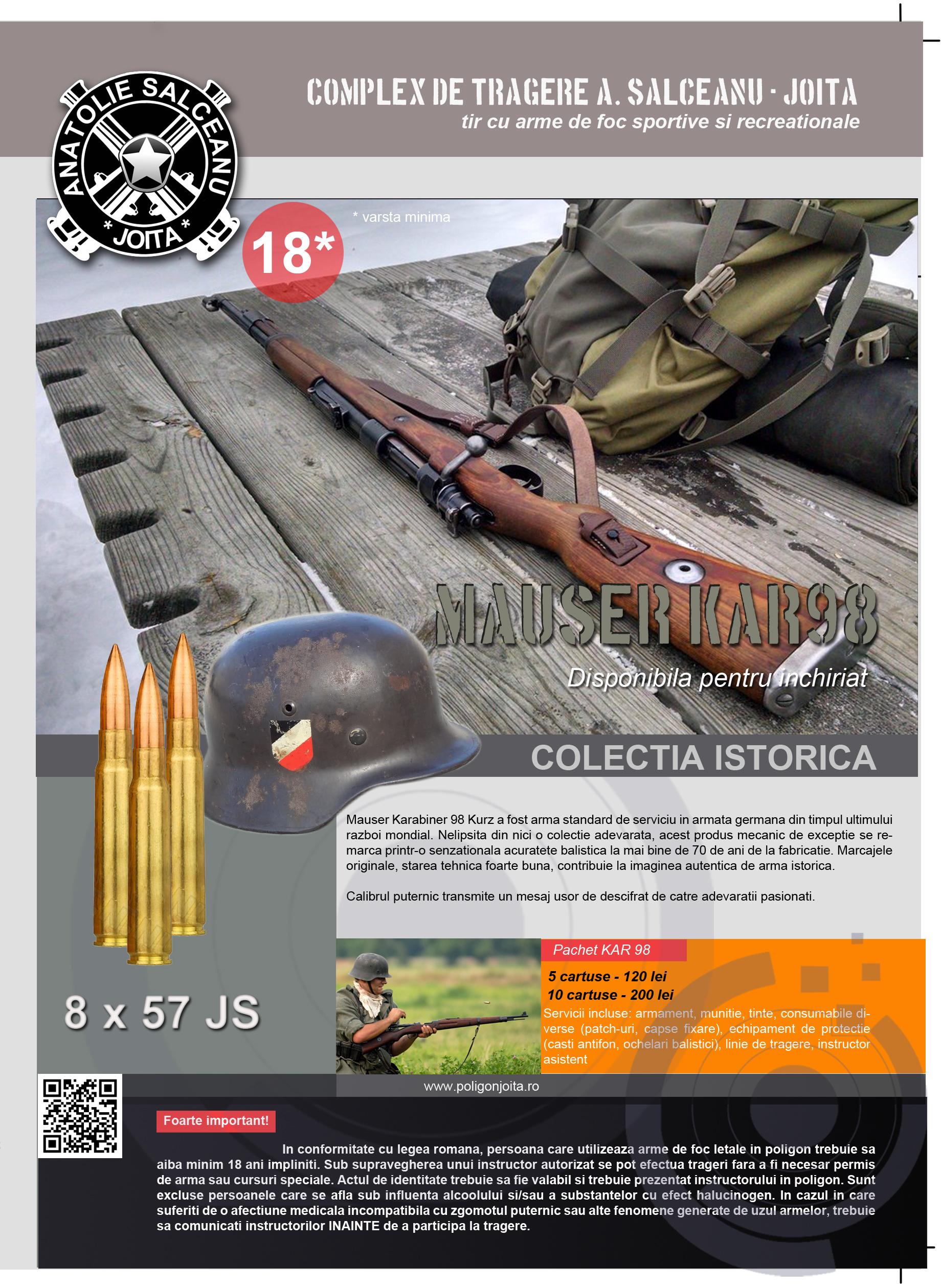 Plansa Mauser KAR 98